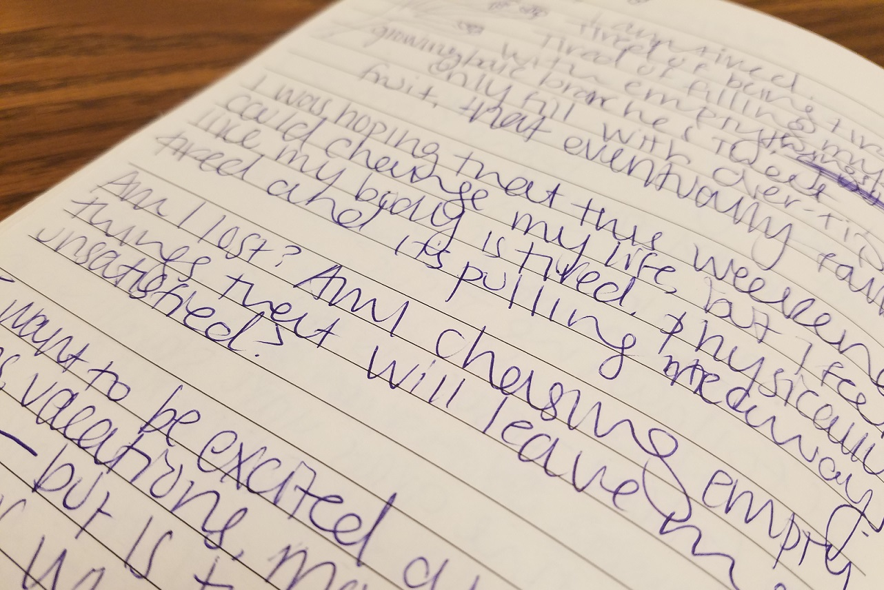 writing to fill him with my words