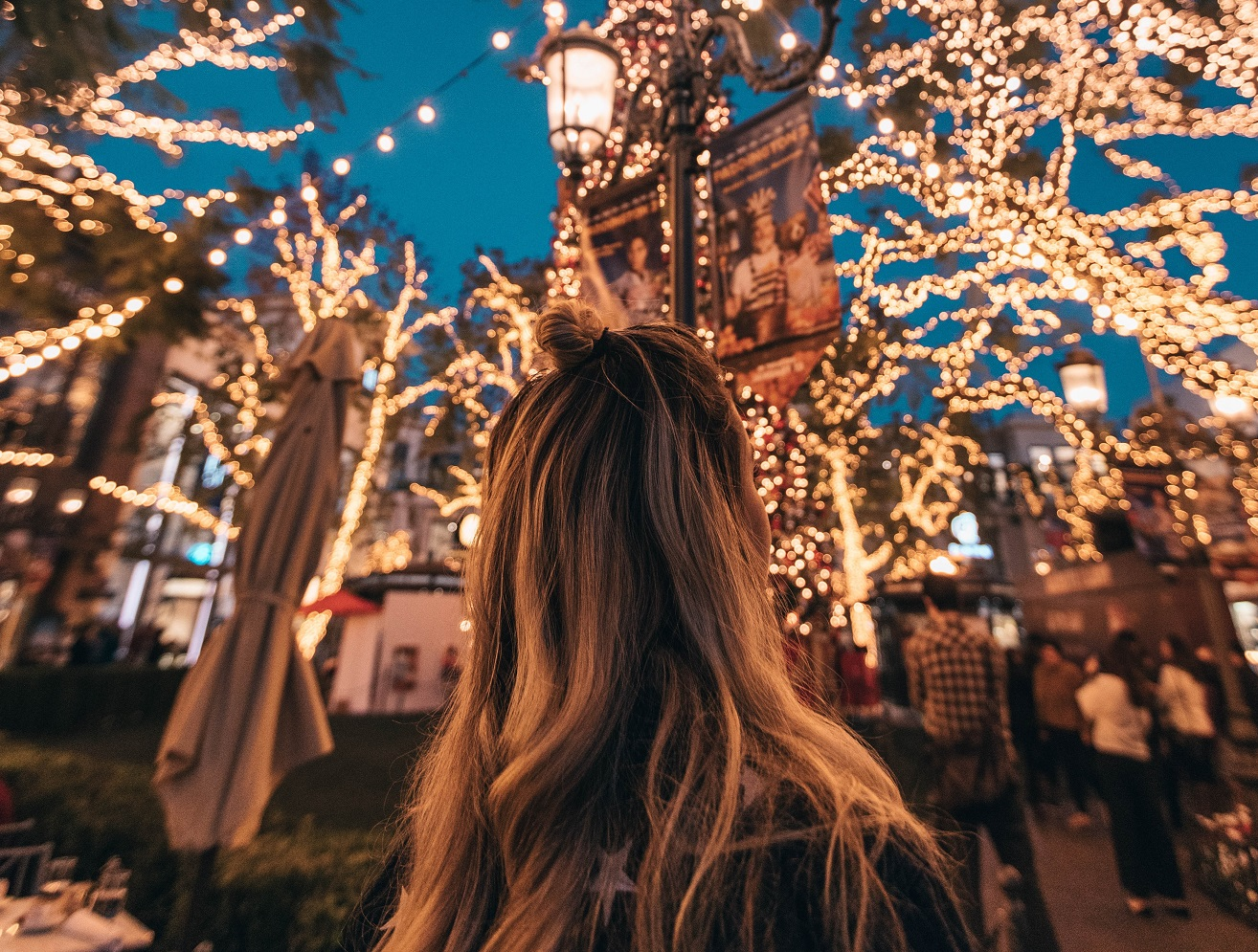 girl in colorful lights, all of this matters