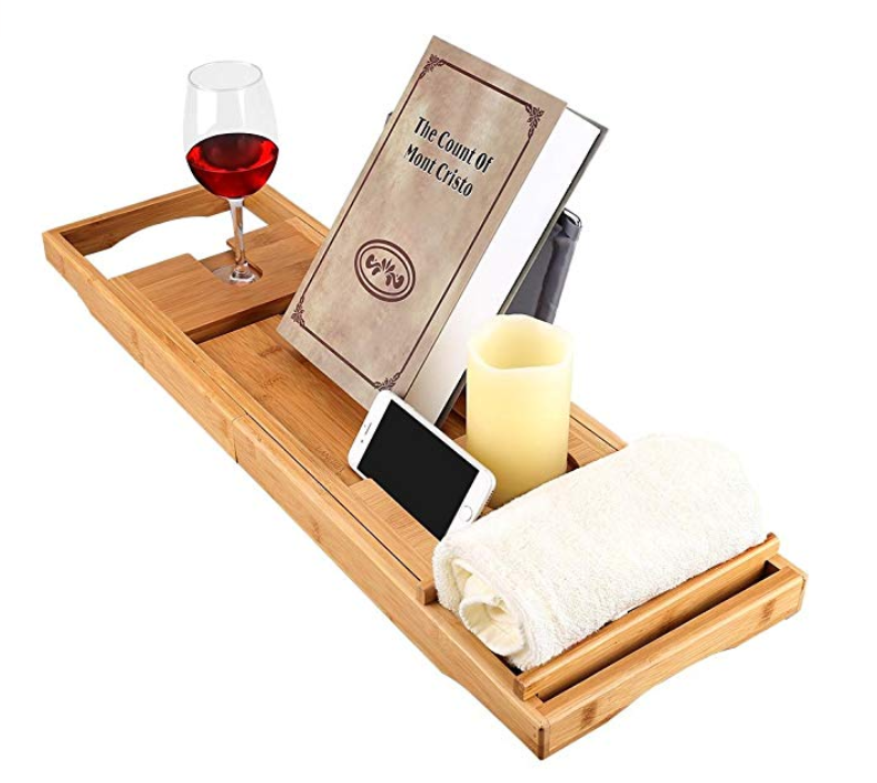 best gifts for homebodies, bath tray