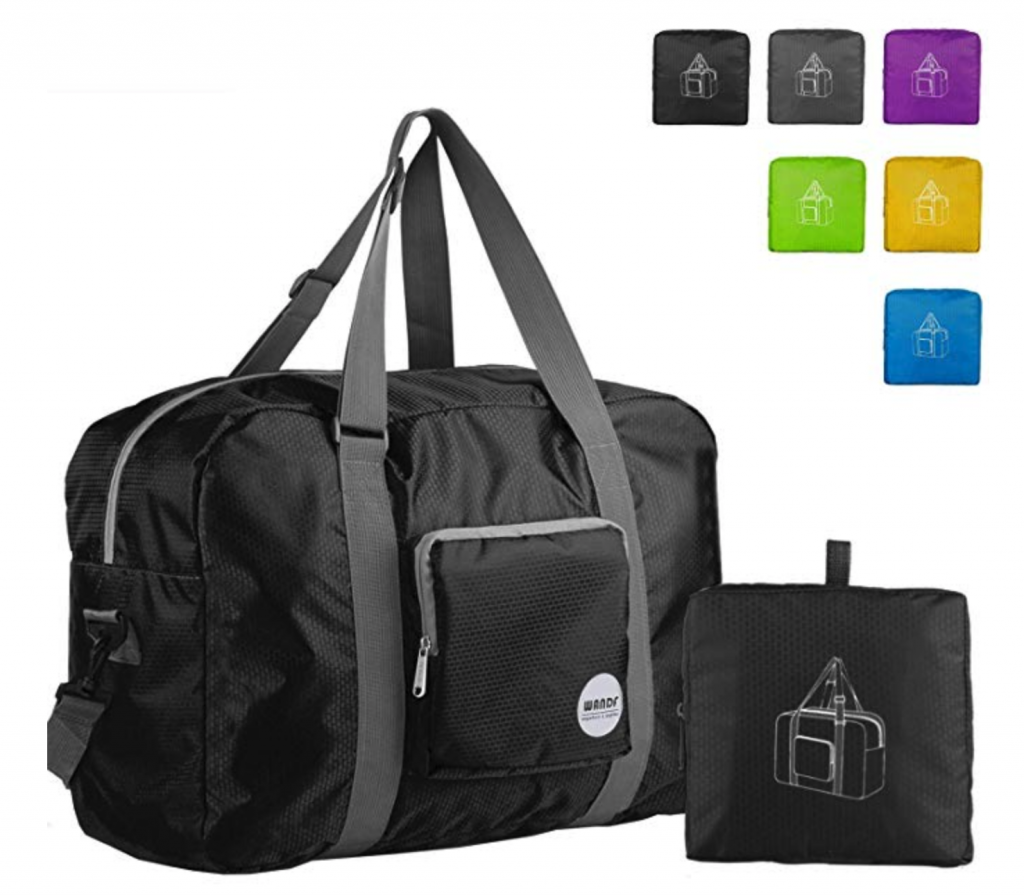 best gifts for travelers, folding duffel bag