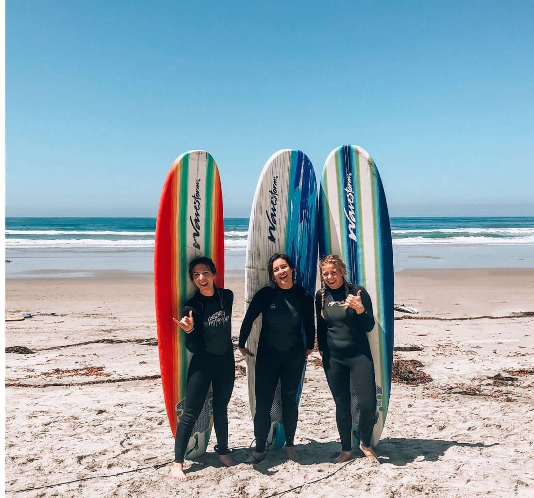 happy surfing girls, life hacks for beach bums