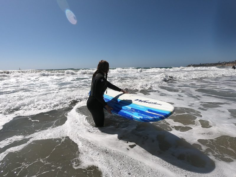 surfer girl learning to trust the process