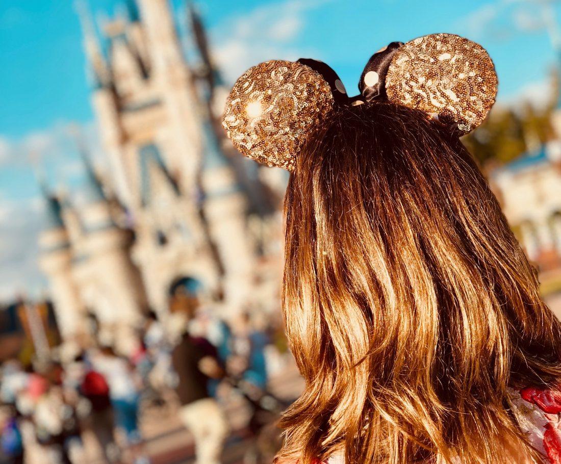 girl at Disney World having fun
