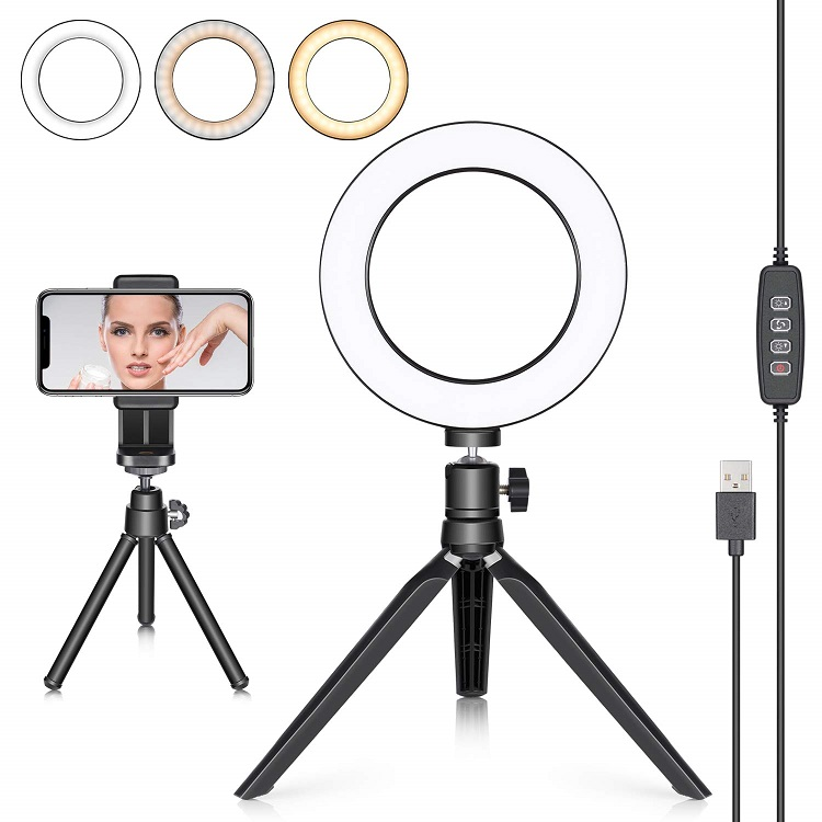 ring light and tripod for videographers