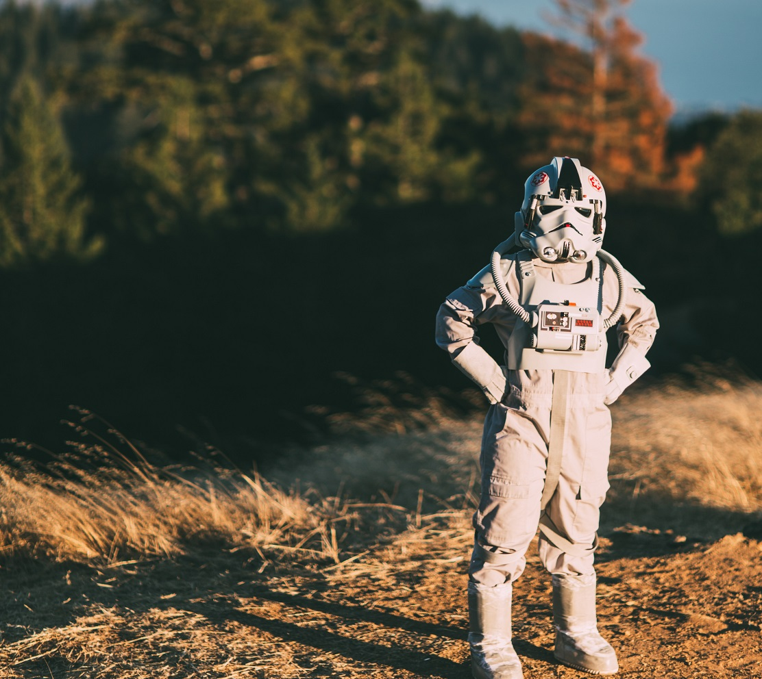 star wars-inspired trips with storm troopers on hill